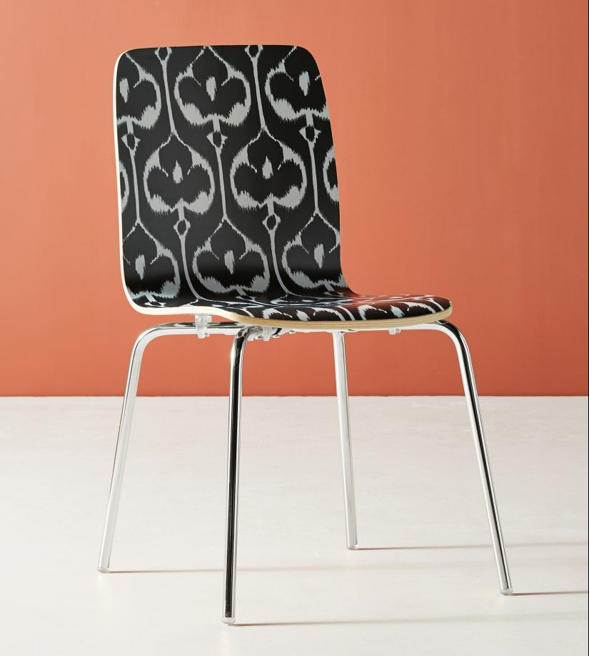Ikat patterns, full of Eastern promise, and worthy of consideration for an English home