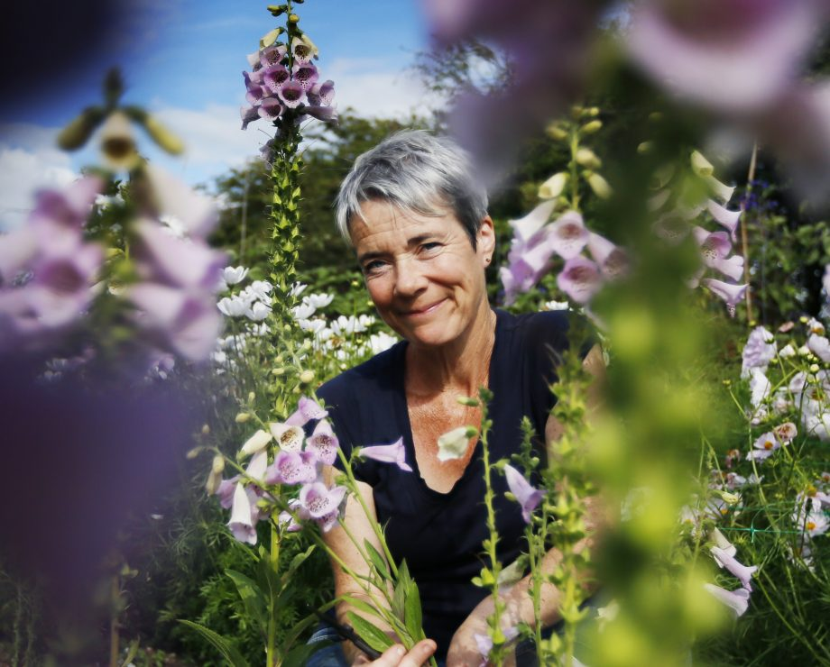 Rachel Siegfried of Green and Gorgeous Flowers in her garden at Bailiffs House, Little Stoke, Wallingford.