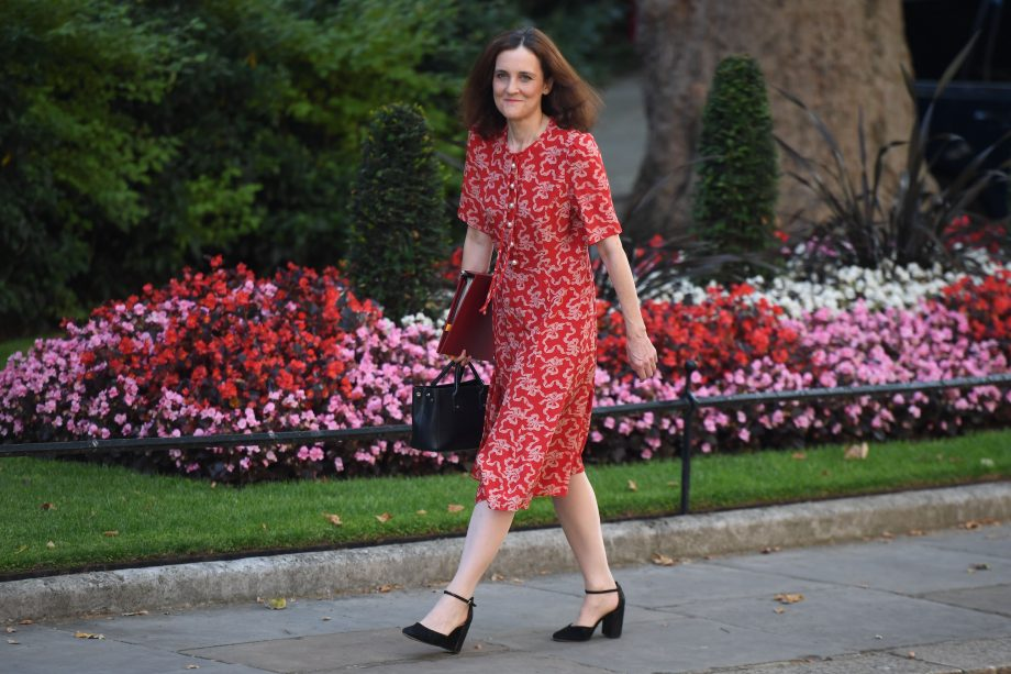 Environment Secretary Theresa Villiers at 10 Downing Street after her appointment last month.