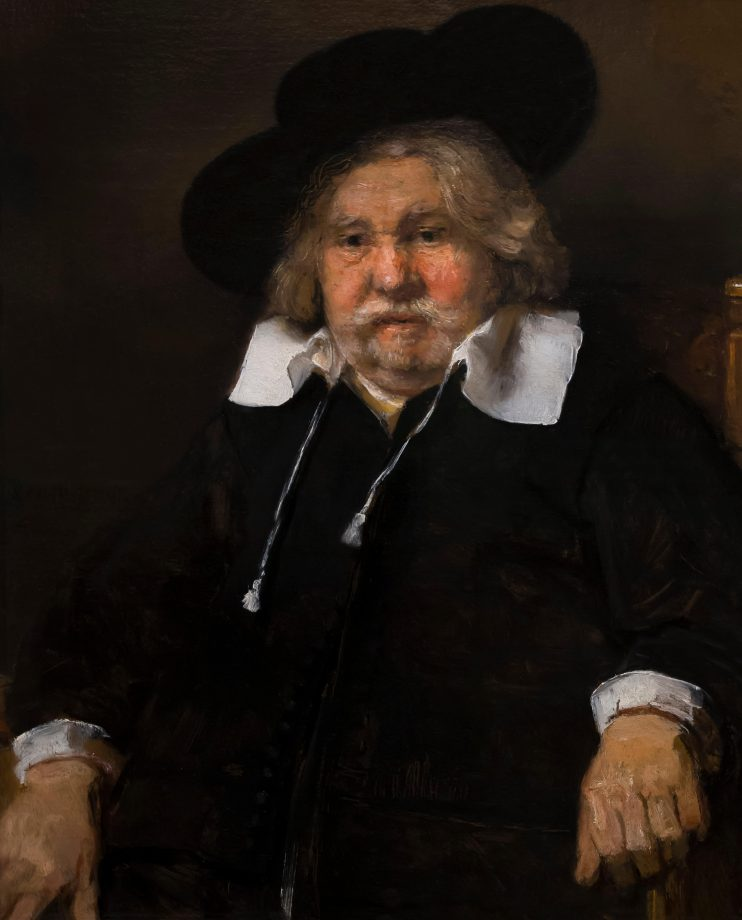 Portrait of an Elderly Man, by Rembrandt, 1667, Royal Art Gallery, Mauritshuis Museum, The Hague, Netherlands.