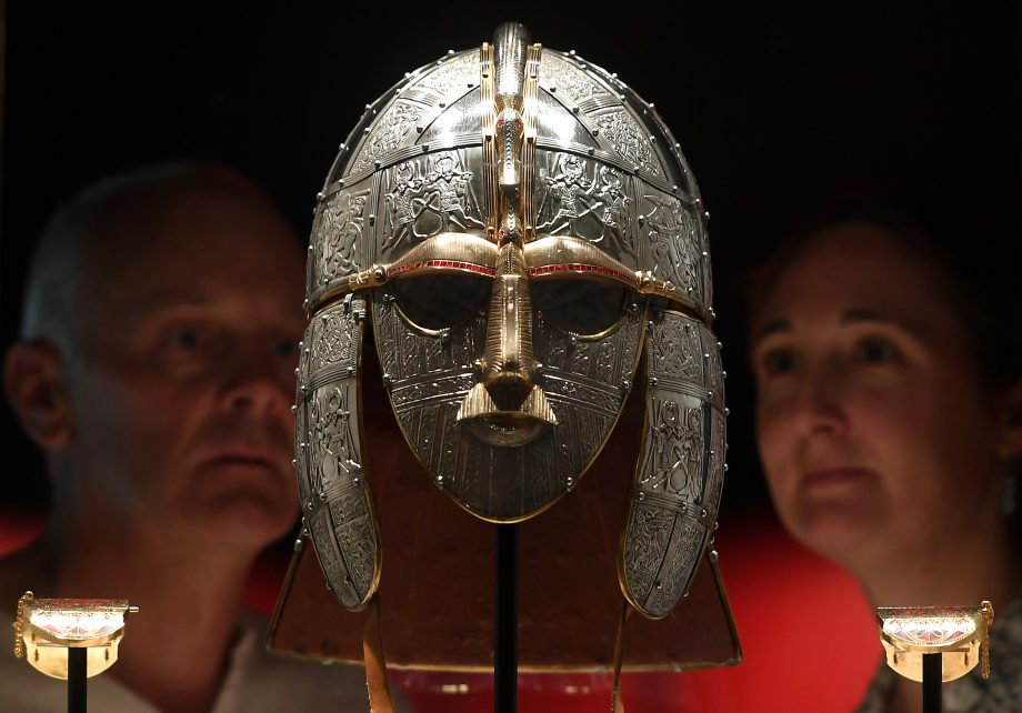 The new displays at Sutton Hoo include a replica of the Sutton Hoo helmet, widely believed to have belonged to King Raedwald of East Anglia.