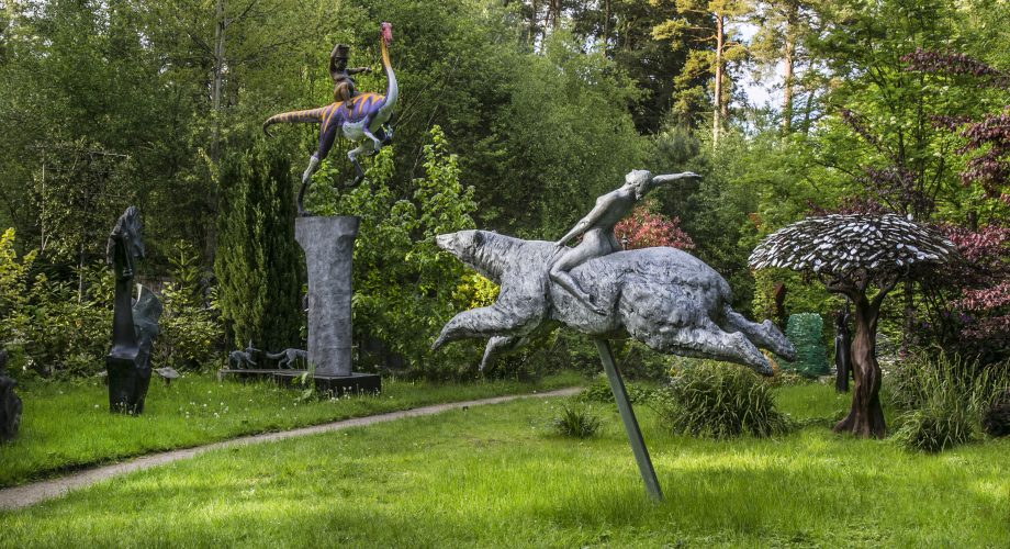 Some of the works on display at The Sculpture Park in Surrey