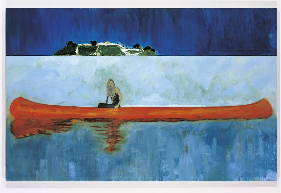 100 Years Ago (Carrera), 2001, 7½ft by 11½ft, by Peter Doig (b. 1959), Centre Pompidou, Paris, France
