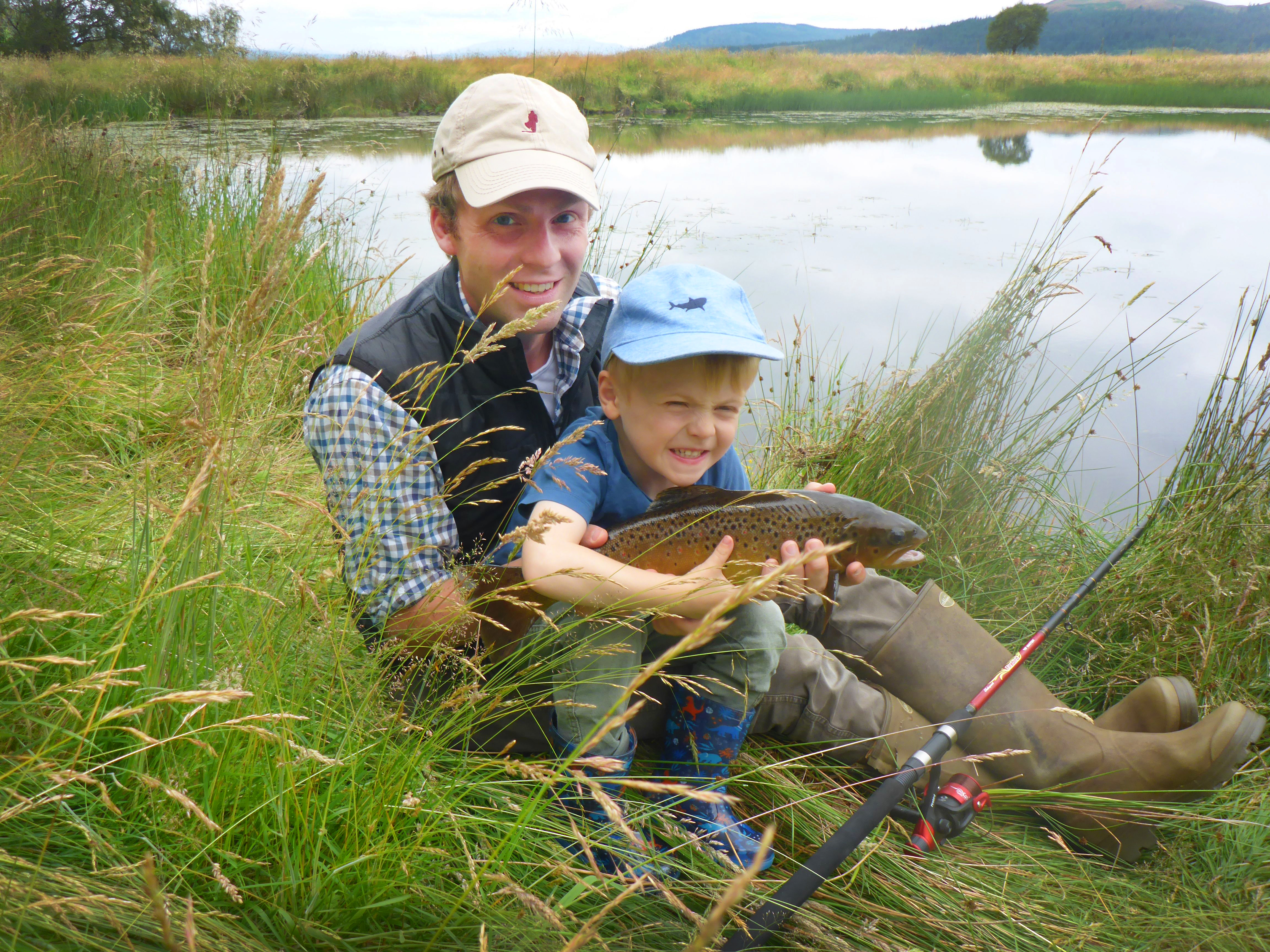 What's the perfect time to teach your children how to fish? - Country Life