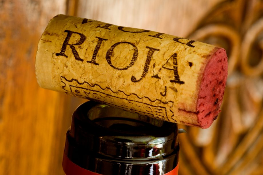 CORK FROM A BOTTLE OF RIOJA RED WINE