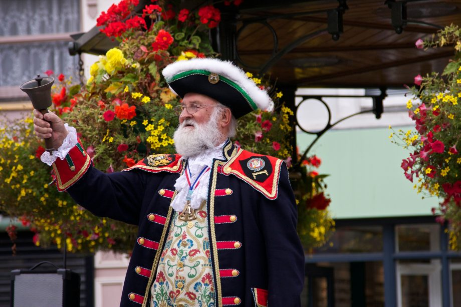 town crier at the 2011 Town Crier Competition, Banbury