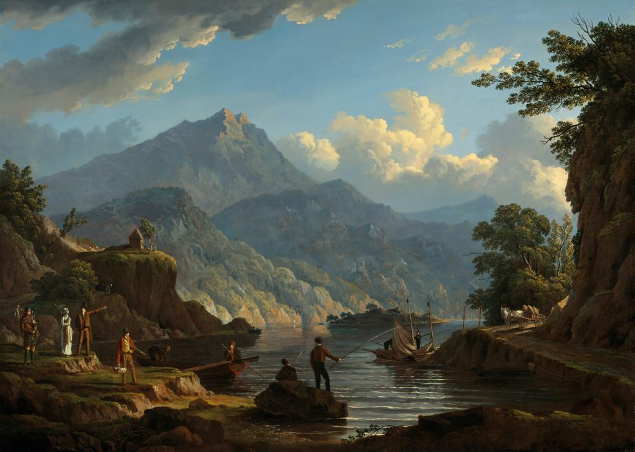 John Knox's 'Landscape with Tourists at Loch Katrine'