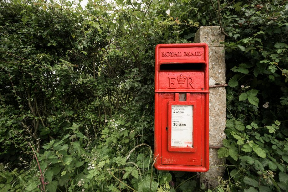 Royal mail postbox in Norfolk