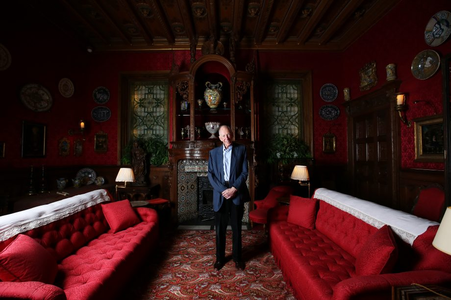 Portrait of Lord Rothschild, photographed in the Smoking Room at Waddesdon Manor, his home in Waddesdon, near Aylesbury, Buckinghamshire. Picture date: Monday August 12, 2019. Photograph by Clara Molden/Country Life Picture Library OVERS