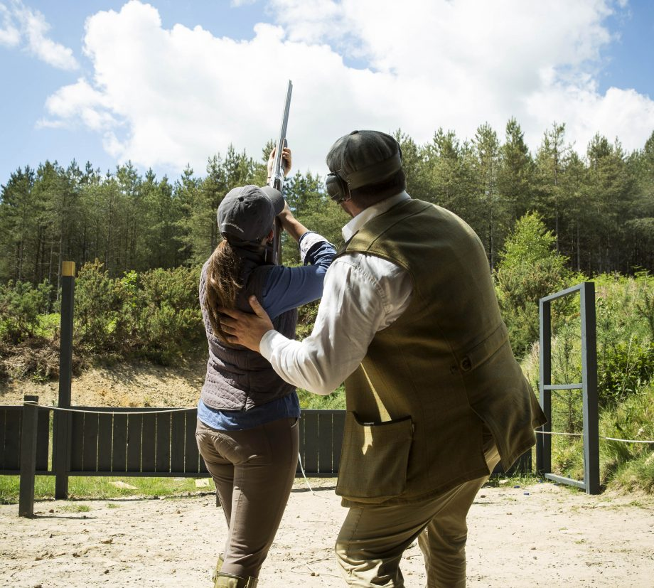 Octavia at Cowdray shooting lesson