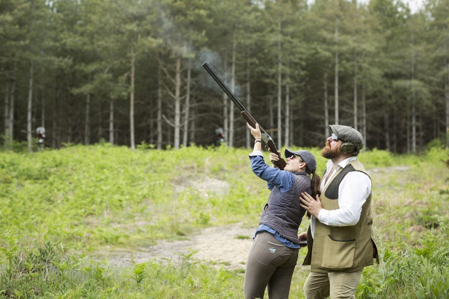 Octavia Pollock shooting at Hownall on the Cowdray Estate