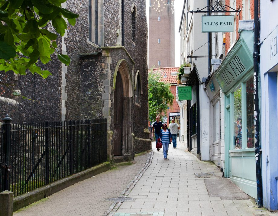 St Benedicts Street is one the most charming spots in the centre of Norwich.