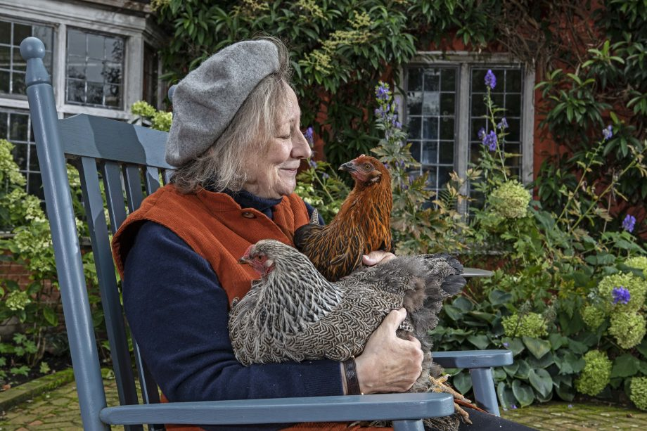 ANIMAL MAGIC - Chickens - Carla Carlisle with her rare chickens photographed at her home in Bury St Edmunds. Pictures by Richard Cannon