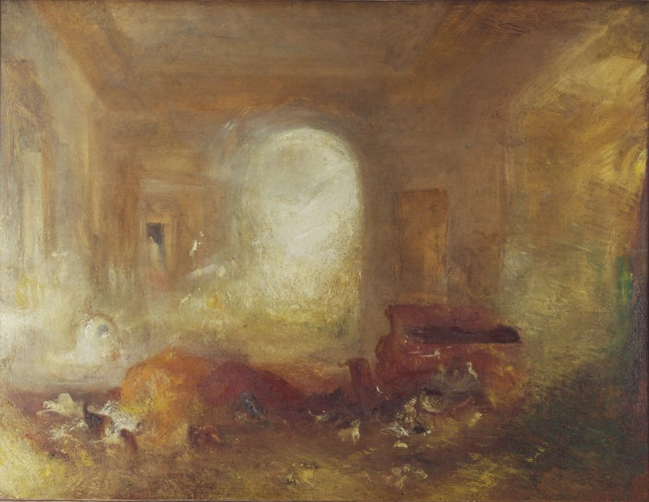 Interior of a Great House: The Drawing Room, East Cowes Castle, about 1830, 35¾in by 48in, by J. M. W. Turner (1775–1851). Copyright: Tate Britain, London