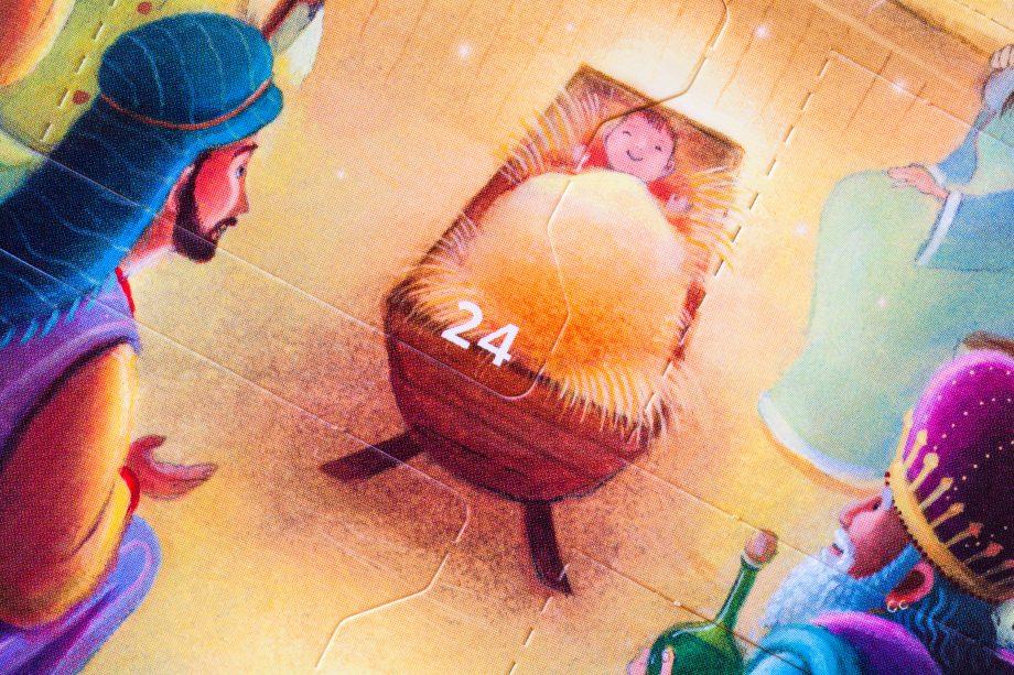 Door 24 on nativity advent calendar - Christmas Eve
