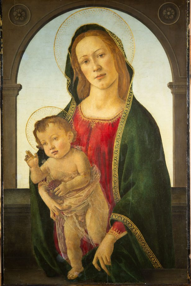 Virgin with Child and Pomegranate by Sandro Botticelli.