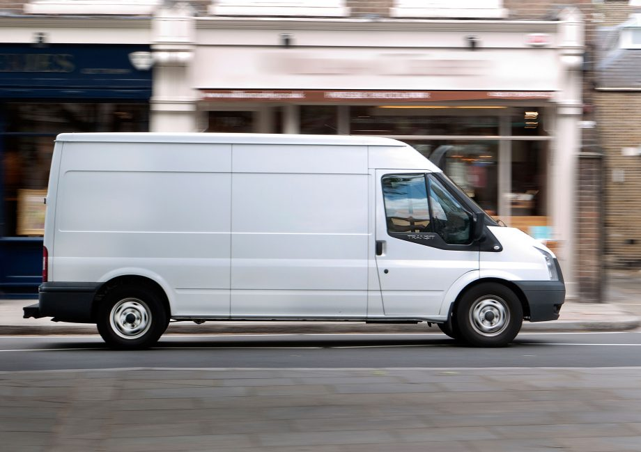 Ford Transit Van driving in London UK