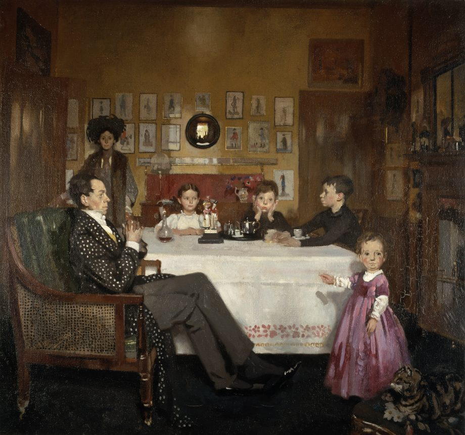 A Bloomsbury Family, by Sir William Orpen, 1907. Oil on canvas. (Photo by National Galleries Of Scotland/Getty Images)