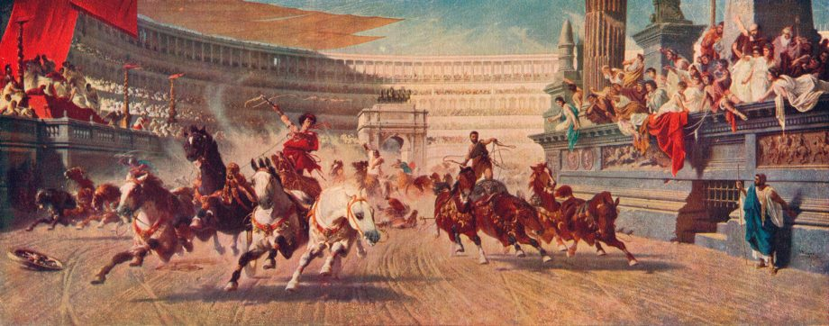 'The Chariot Race', c1882, 4.5ft by 11.5ft Alexander von Wagner (1838-1919) which hangs in Manchester Art Gallery.