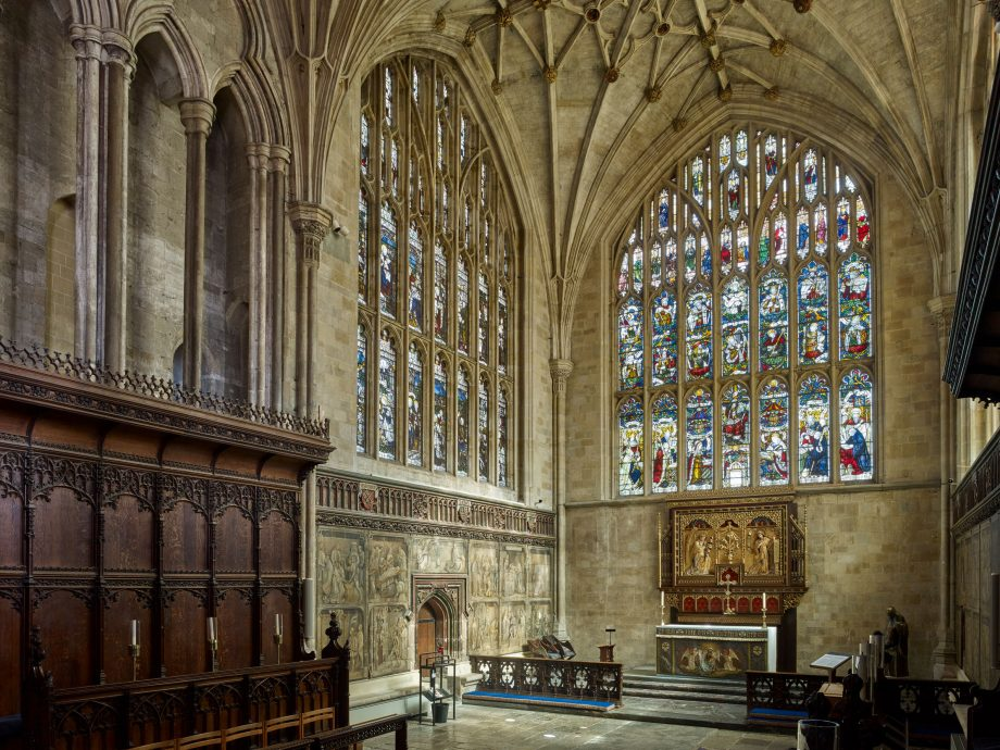 Lady Chapel at Winchester Cathedral:The Lady Chapel was extended in the late 15th century, furnished with stalls and decorated with painted miracle narratives.