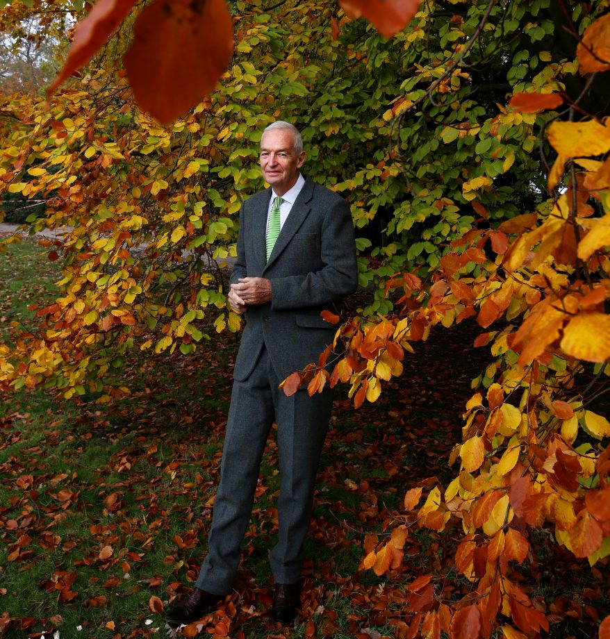 Portrait of British newsreader Jon Snow, photographed in the grounds of Kenwood House in Highgate, North London, for the Country Life interview page. Picture date: Tuesday November 8, 2019. Photograph by Clara Molden.