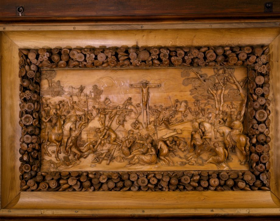 National Trust treasures - The wooden carving in the Great Hall at Dunham Massey.