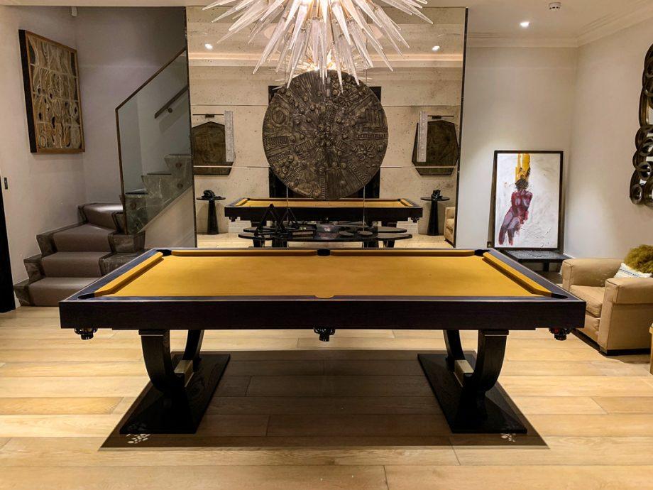 Sir William Bentley Billiards Classic-Continental-GreyAsh-Brass-gold-cloth-5a-e