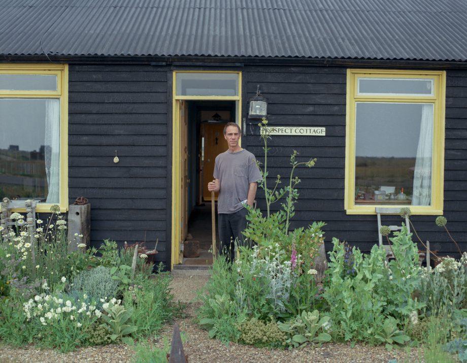 Derek Jarman at Prospect Cottage. © Howard Sooley.