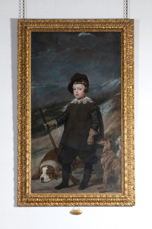 Diego Velazquez's Prince Baltasar Carlos, aged six, as a hunter. Taken on location at Ickworth House, Suffolk. Photograph: Simon Buck/Country Life Picture Library