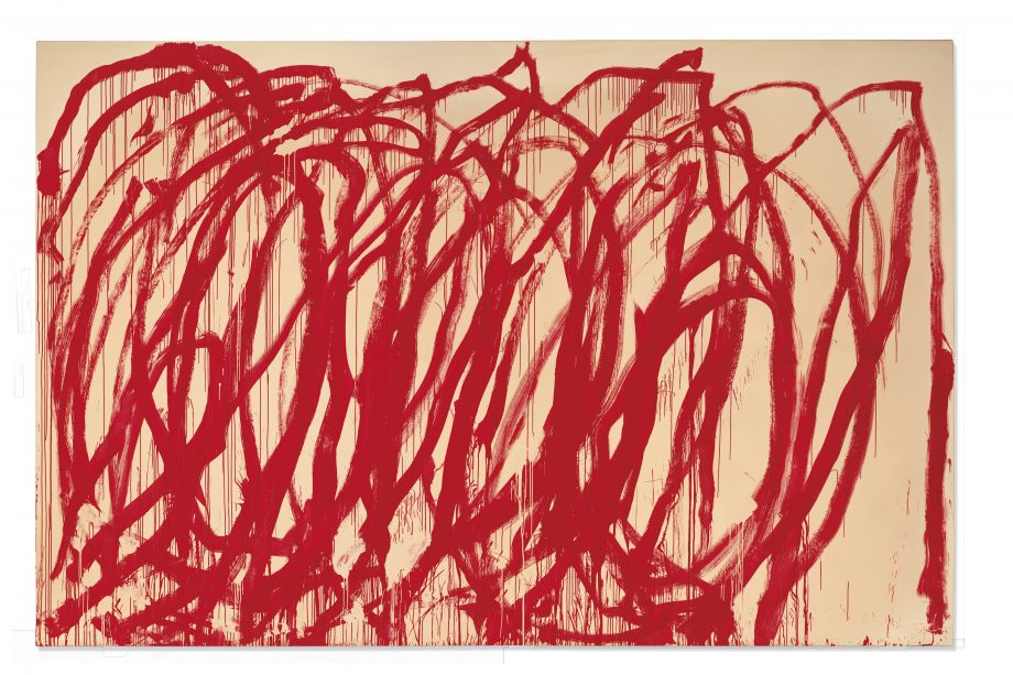 Untitled, 2005, 128in by 194½in, by Cy Twombly (1928–2011), private collection