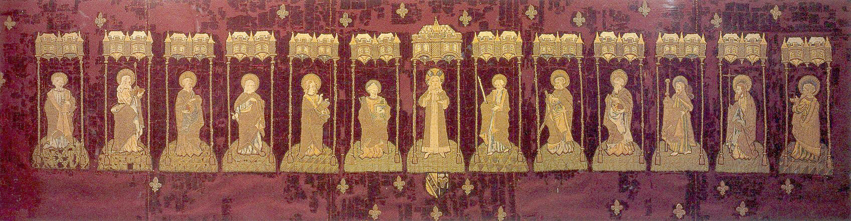 A 15th-century altar cloth that survives in almost miraculous condition, one of the National Trust's greatest treaures