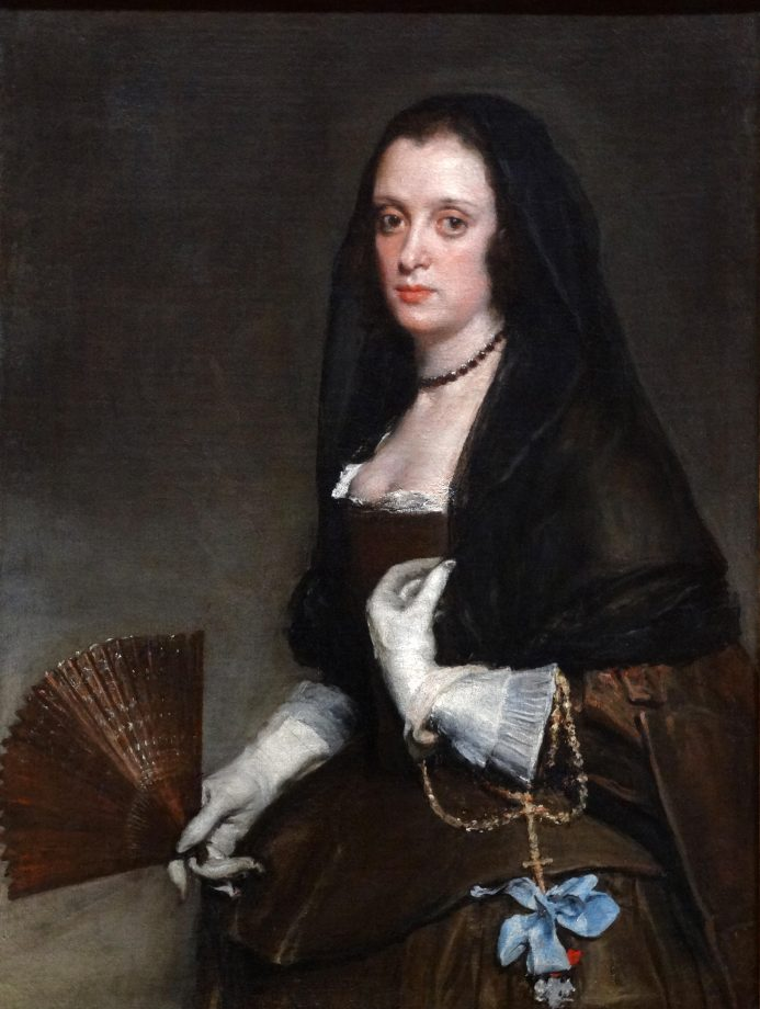 The Lady with a Fan, 1640, 37½in by 27½in, by Diego Velázquez (1599–1660), Wallace Collection, London