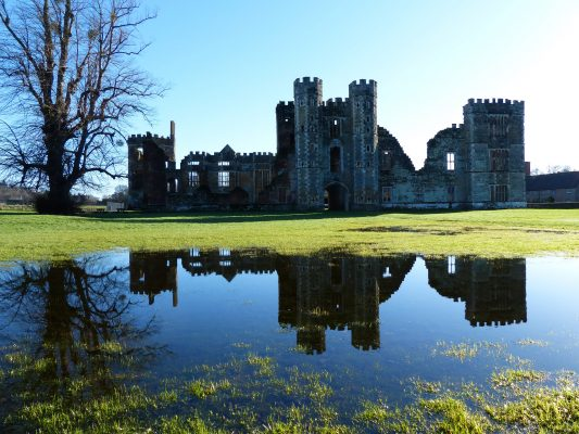 The tale of the fire that turned Cowdray's ancient castle to ruins, the treasure hunters who made it worse, and how what was left was saved - Country Life