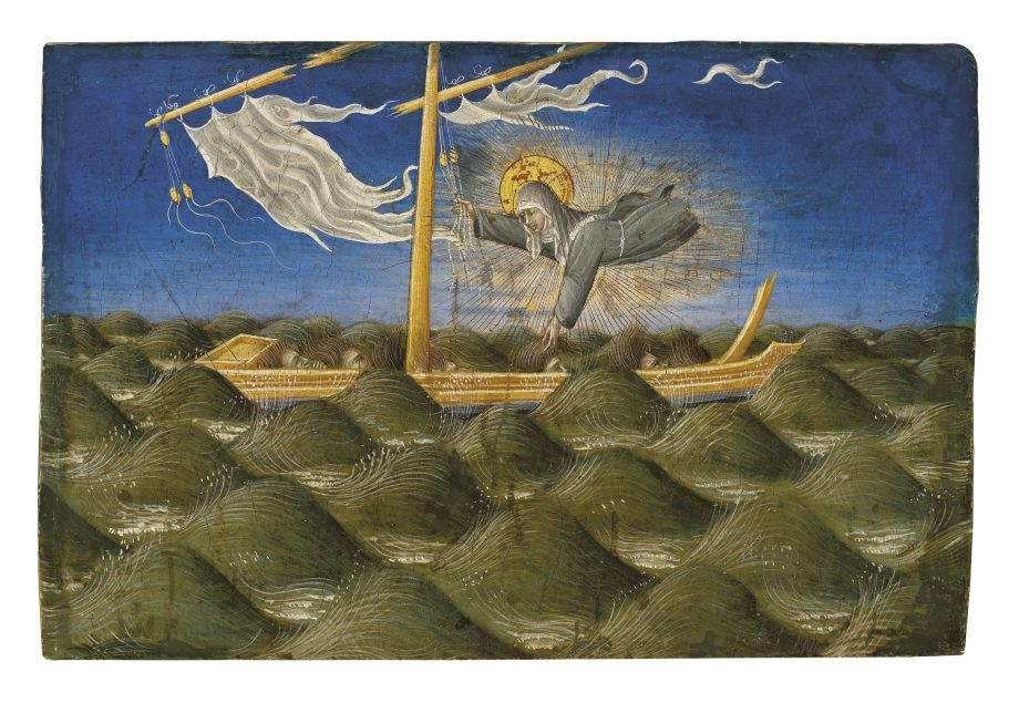 'Saint Clare rescuing the Sailors', predella panel by Giovanni di Paolo. £5,313,750.