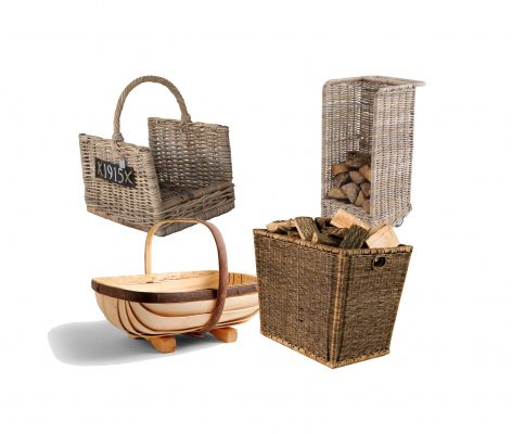 12 beautiful log baskets to set off your fireplace or stove - Country Life