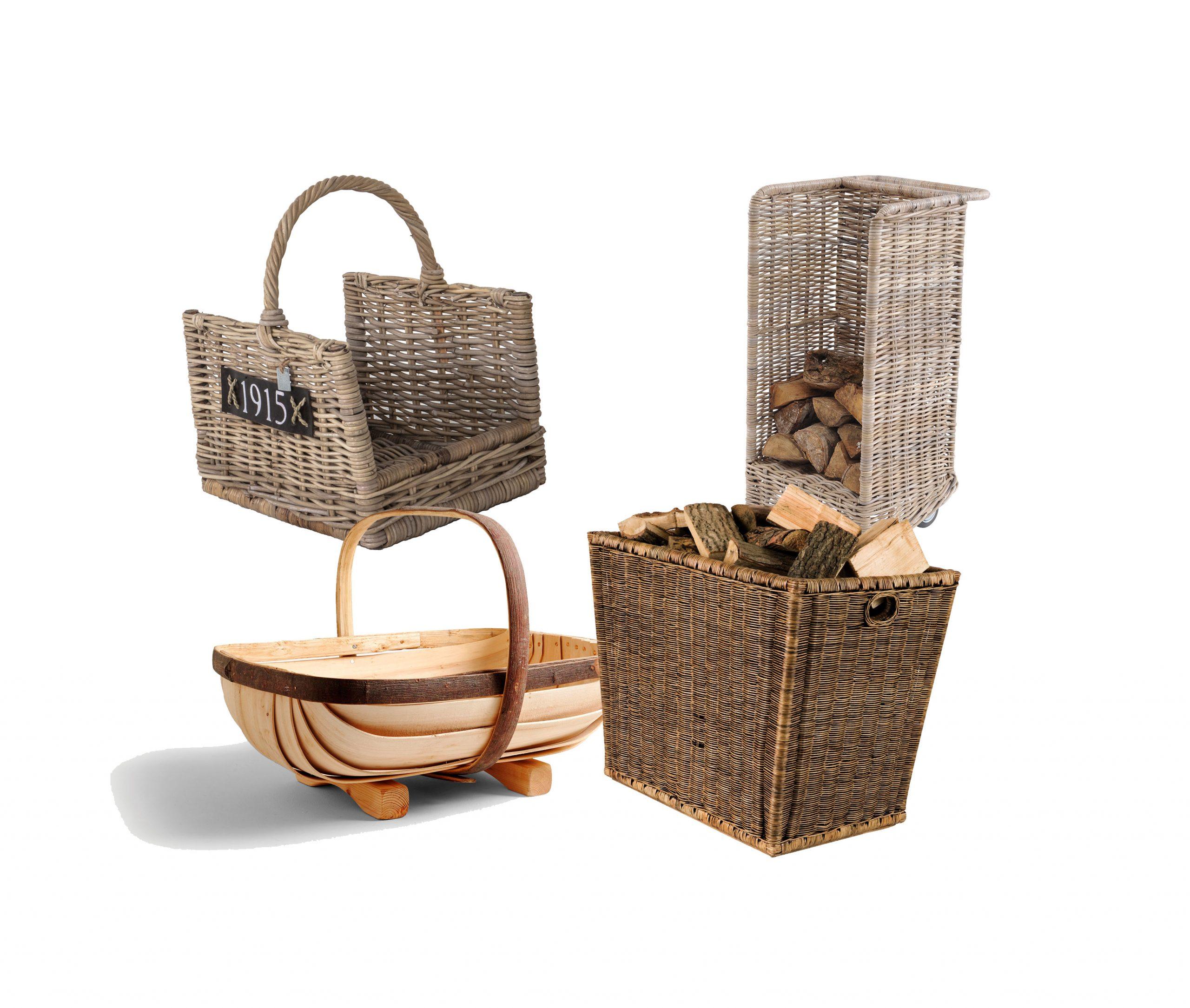 12 Beautiful Log Baskets To Set Off