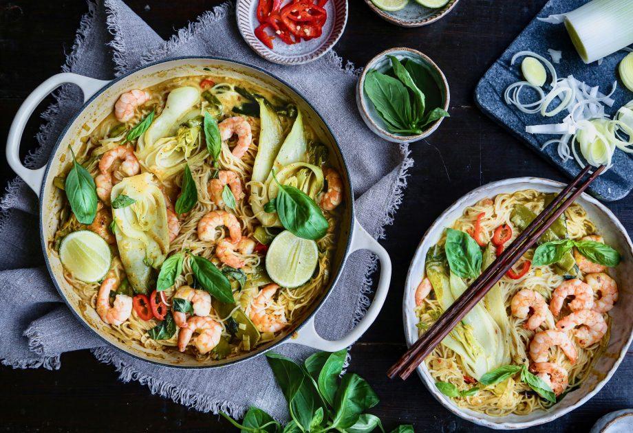 Thai prawn Khao Soi