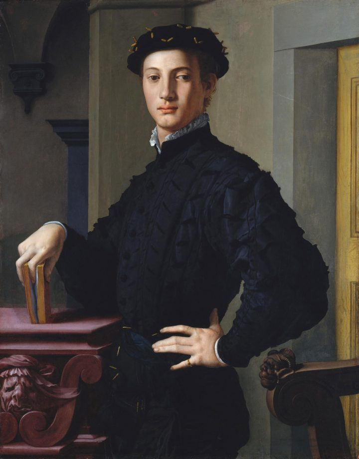 Portrait of a Young Man with a Book by Bronzino