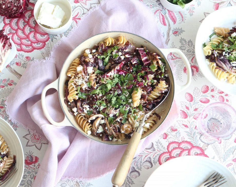 Pasta with radicchio