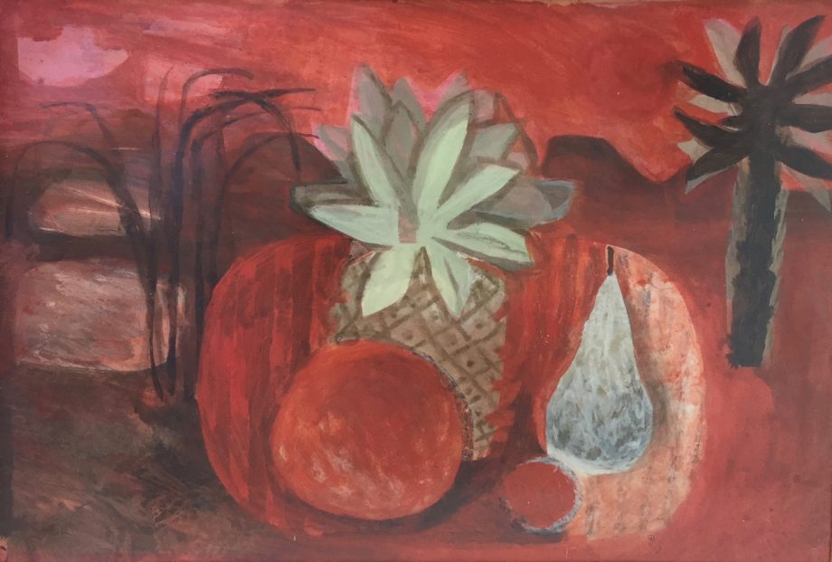 The Pineapple (Red Still Life) by Mary Fedden