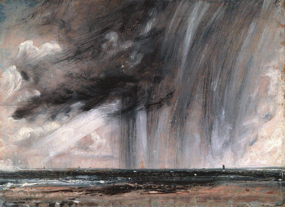 John Constable's Rainstorm Over Sea, 1828