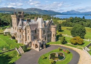 A fantasy castle for sale on Loch Lomond, with a Rennie Mackintosh library and a herd of Highland Cattle 1