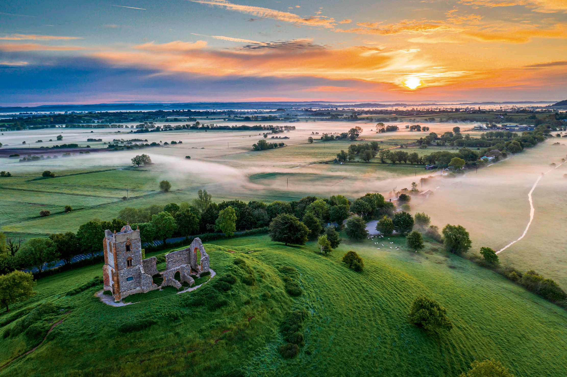 Burrow Mump, Somerset: Alfred the Great's lookout point - Country Life
