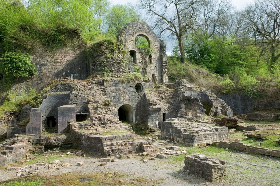Restored remains of ironworks Clydach Gorge