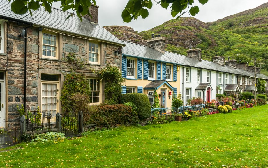 Cottages in a Welsh village