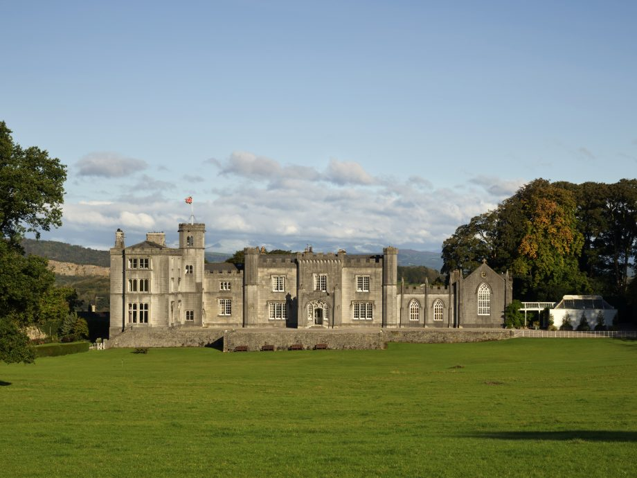 Leighton hall from the park