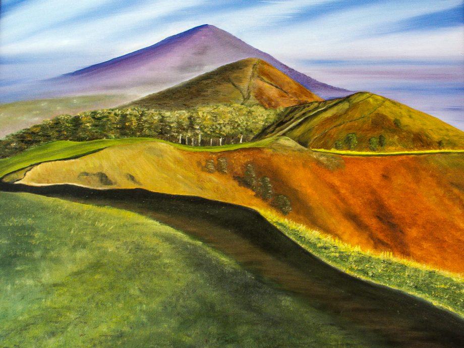 The ridge of the Malvern Hills