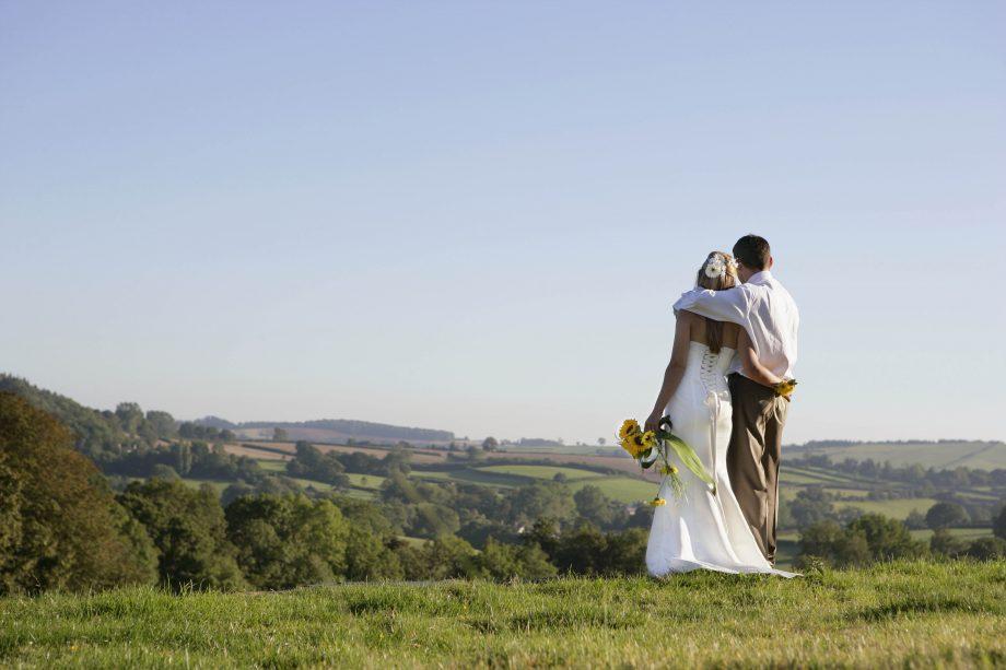 Newly weds on wedding day