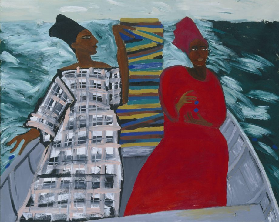 Lubaina Himid's Between the Two my Heart is Balanced painting