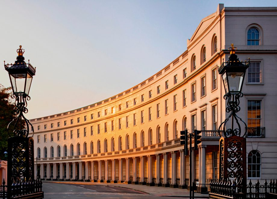 Nash Terrace in Park Crescent London with street furniture removed